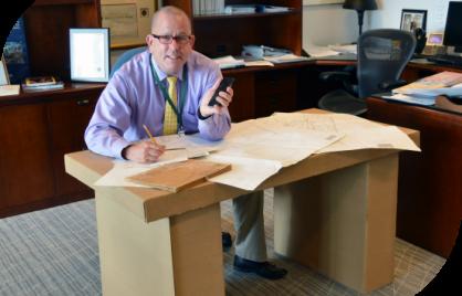Historian at desk